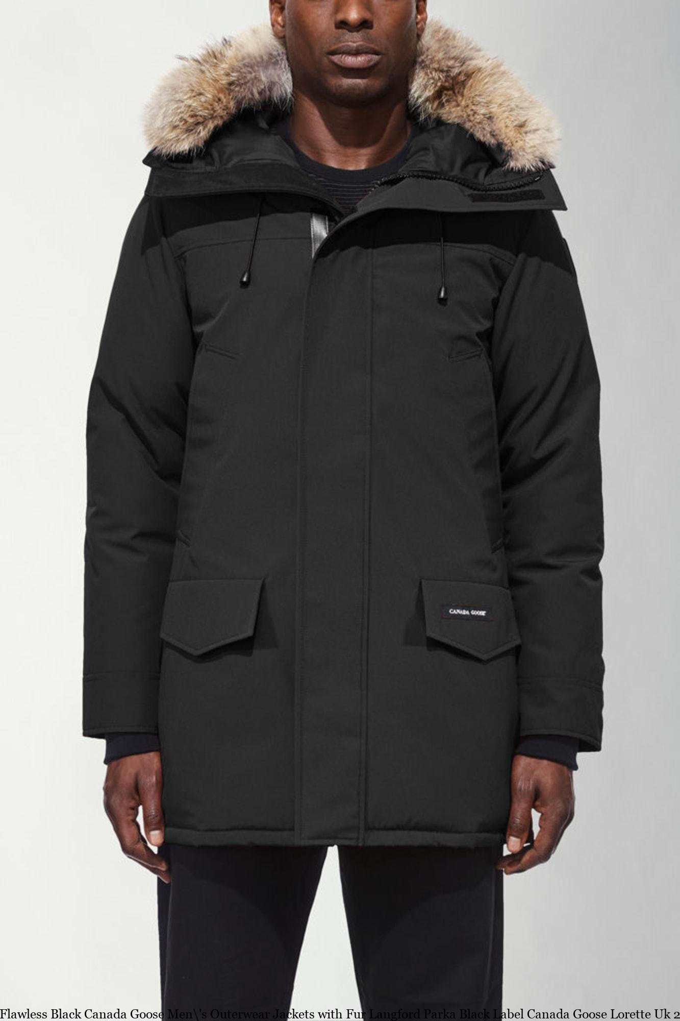 582106e23 Flawless Black Canada Goose Men\'s Outerwear Jackets with Fur Langford  Parka Black Label Canada Goose Lorette Uk 2062MB