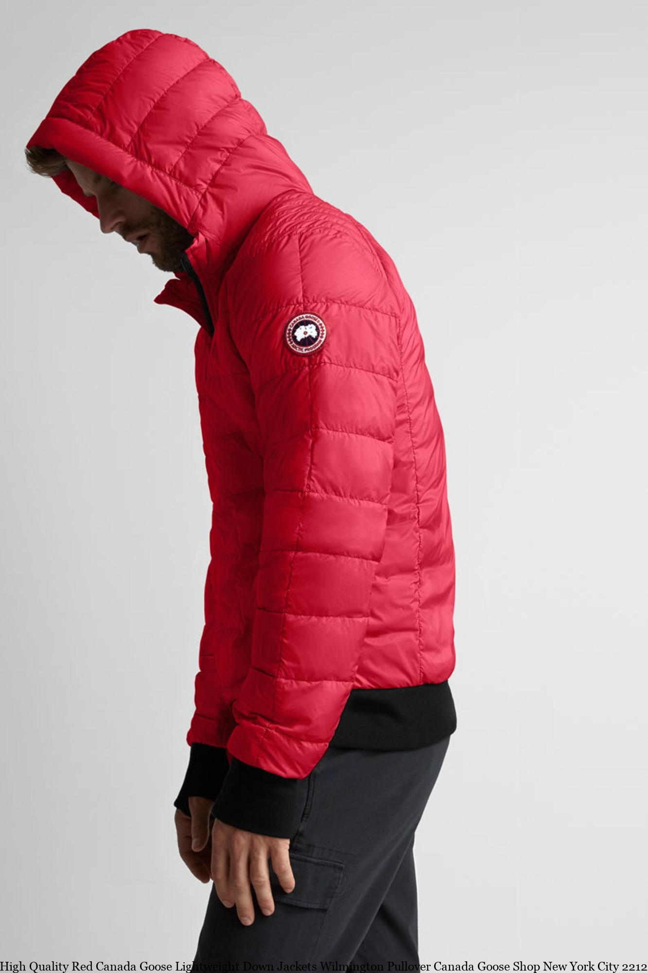 9204f399a3e High Quality Red Canada Goose Lightweight Down Jackets Wilmington Pullover Canada  Goose Shop New York City 2212M