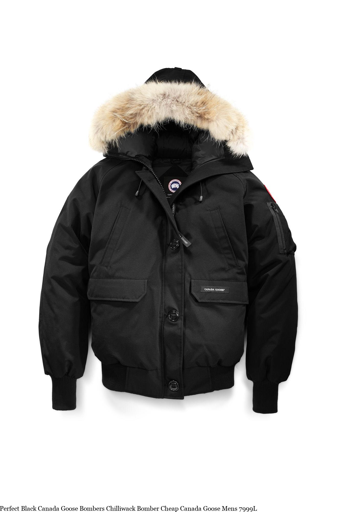 ba6e9bd64 Perfect Black Canada Goose Bombers Chilliwack Bomber Cheap Canada Goose  Mens 7999L